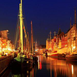 Kopenhagen Hafen nachts